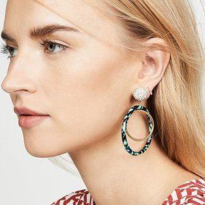 LELE SADOUGHI Pave Double-Hoop Drop Earrings